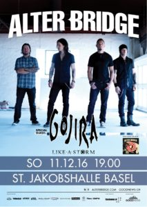 Alter Bridge - St. Jakobshalle Basel, 11.12.2016 (Flyer)