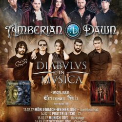 Amberian Dawn - Tour 2017 Flyer