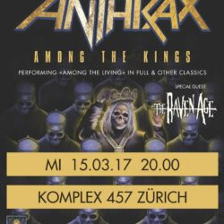 Anthrax Komplex 457 Zurich - 2016 (Flyer)