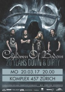 CHILDREN OF BODOM - Komplex 457 Zürich, 20.3.2017 (Flyer)