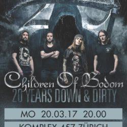 CHILDREN OF BODOM - Komplex 457 Zürich, 20.3.2017 (Flyer)