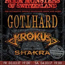 Gotthard/Krokus - Bern 2017 (Flyer)