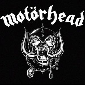 Frühstücksbrettchen mit dem Motörhead Logo.