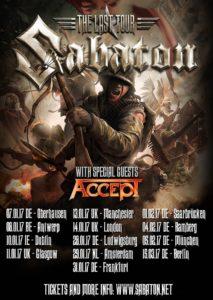 Sabaton Tour 2017 (Flyer)