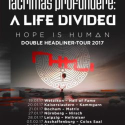 LACRIMAS PROFUNDERE, A LIFE DIVIDED - Hall of Fame 2017 (Flyer)