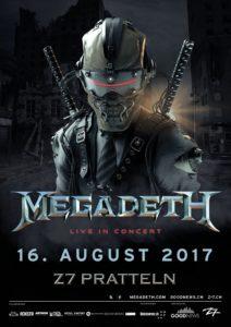 Megadeth - Z7 Pratteln 2017 (Flyer)