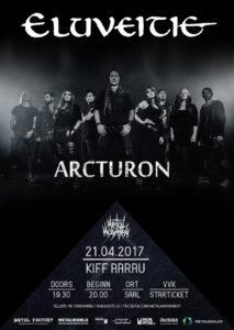 Eluveitie - Kiff Aarau - 21.04.2017 (Flyer)