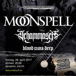 Moonspell - Dynamo Zürich 2017 (Flyer)