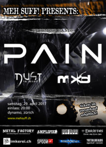 Pain - Dynamo Zürich 2017 (Flyer)