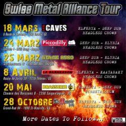 Swiss Metal Alliance Tour 2017 (Flyer)