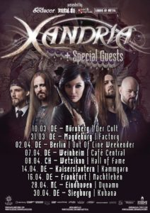 Xandria - Tour 2017 (Flyer)