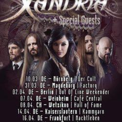 Xandria - Tour 2017 (Flyer)