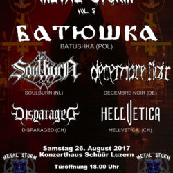 Metal Storm Vol. 5 - Schüür Luzern 2017 (Flyer)
