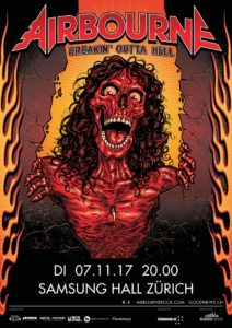 Airbourne - Samsung Hall 2017 (Flyer)
