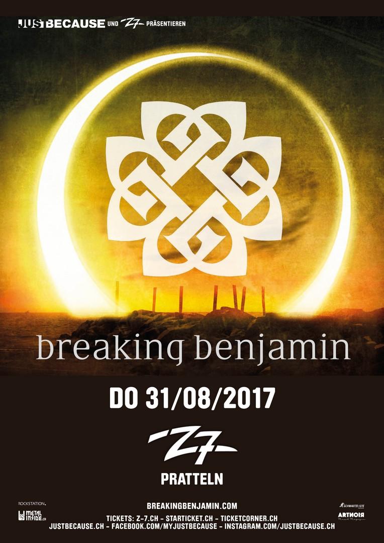 breaking benjamin z7 pratteln flyer auf dem metal web fanzine der schweiz. Black Bedroom Furniture Sets. Home Design Ideas