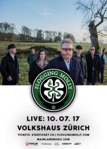 Flogging Molly - Volkshaus Zürich 2017 (Flyer)