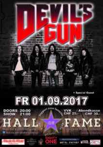 Devil's Gun - Halls of Fame 2017 (E-Flyer)