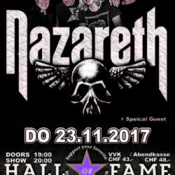 Nazareth - Halls of Fame 2017 (E-Flyer)