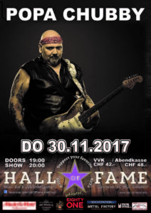 Popa Chubby - Halls of Fame 2017 (E-Flyer)