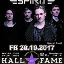 Rebellious Spirit - Halls of Fame 2017 (E-Flyer)