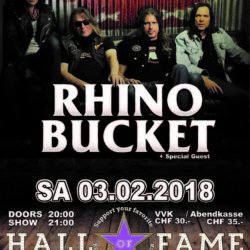 Rhino Bucket - Hall of Fame 2018 (E-Flyer)