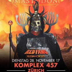Mastodon - Komplex 457 Zürich, 28.11.2017 (Flyer)