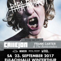 Papa Roach - Eulachhalle Winterthur 2017 (Plakat)