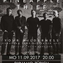 The Pineapple Thief - Dynamo Zürich 2017 (Plakat)