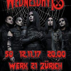 Wednesday 13 - Werk 21 Zürich, 2017 (Plakat)
