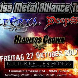 Swiss Metal Alliance Tour Kulturkeller Höngg