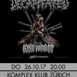 Decapitated - Anticult Tour Poster 2017 - Komplex 457 Zürich