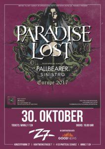 Paradise Lost - Z7 2017 (Flyer)