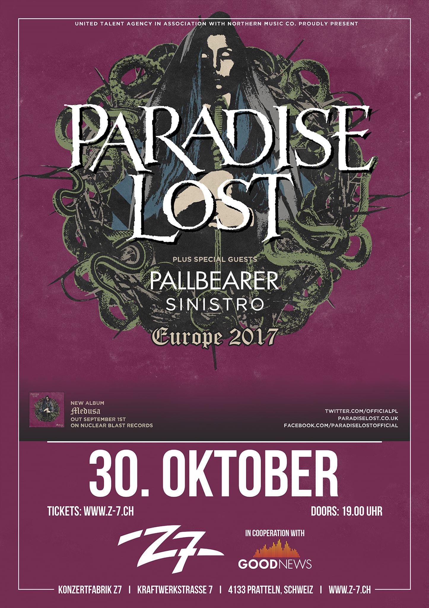 Paradise Lost, Pallbearer, Sinistro - Metalinside