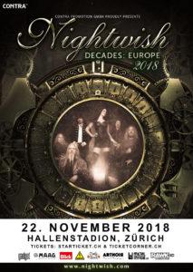 Nightwish - Hallenstadion Zürich 2018 (Flyer)