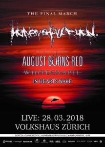 Heaven Shall Burn - Volkshaus Zürich 2018