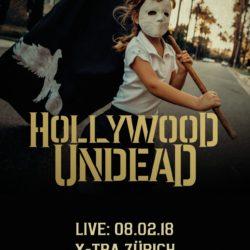 Hollywood Undead - X-Tra Zürich 2018 (Flyer)