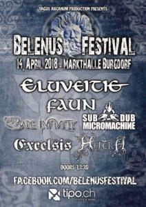 Belenus Festival 2018 - Flyer