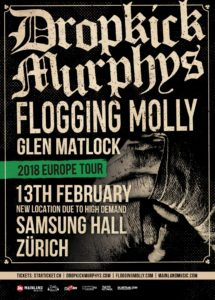 Dropkick Murphys - Samsung Hall Dübendorf 2018 (Flyer)