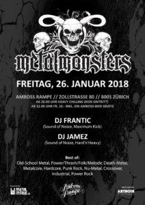 Metal Monsters XI - Amboss Rampe Zürich 2018
