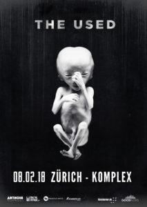 The Used - Komplex 457 Zürich 2018