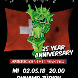 Ugly Kid Joe - Dynamo Zürich 2018 (Plakat)