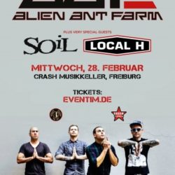 Alien Ant Farm - Crash Musikkeller Freiburg (D) 2018