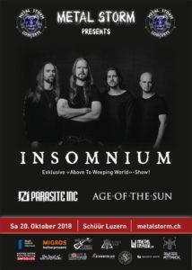 Insomnium - Schüür Luzern 2018