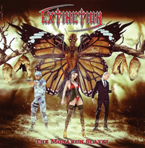 Extinction – The Monarch Slaves (CD Cover Artwork)