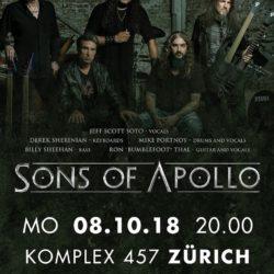 Sons of Apollo - Komplex 457 Zürich 2018