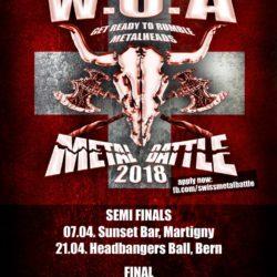 WOA Metal Battle 2018 Flyer