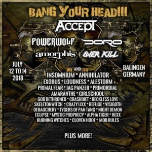 Bang Your Head!!! 2018