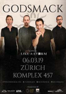 Godsmack - Komplex 457 Zürich 2019_neues Datum
