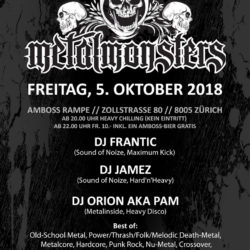 Metal Monsters Vol. XIII - Amboss Rampe Zürich 2018 (Flyer)