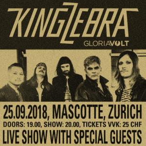 King Zebra - Mascotte Zürich 2018